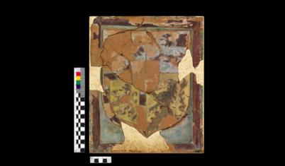 Ренессансные широкоформатные печные изразцы 16го века